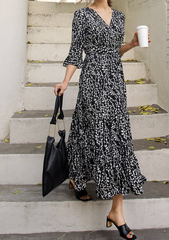 Lily Wrap Long Dress