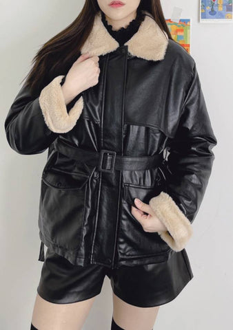 Annie Leather Fur Jacket