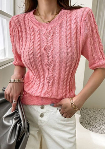 Just Peachy Knit Top
