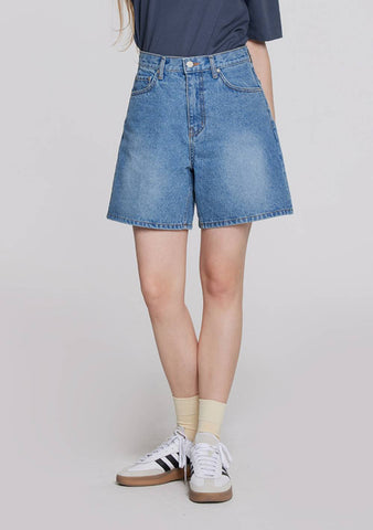 Denim Bermuda Shorts (Dark Blue)