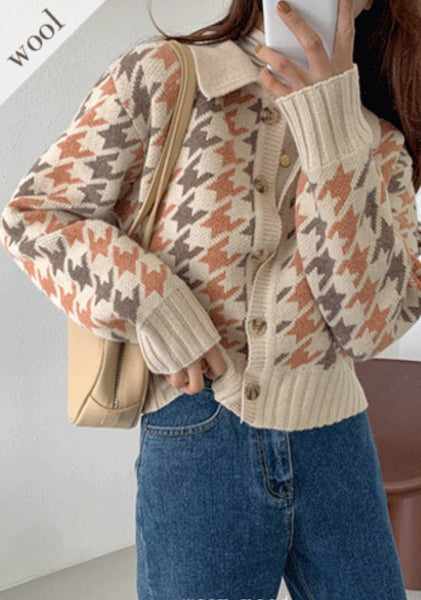 Love In Fall Houndstooth Cardigan