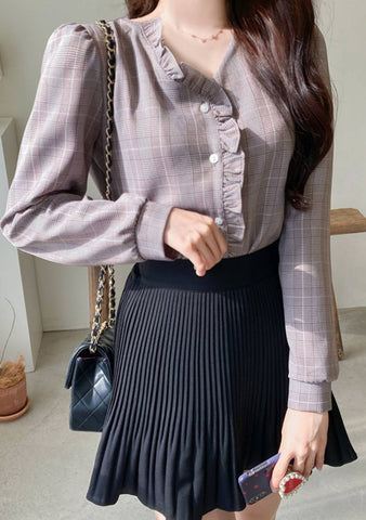 When You Do Something Beautiful Check Blouse