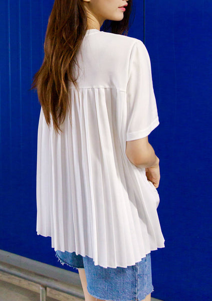 Interesting Twist Pleated Top