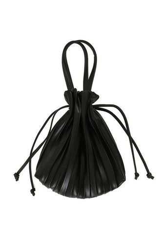 Maps Code Pleated Bag