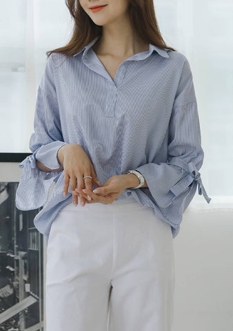 Outgrown Many Things Tie Sleeves Blouse