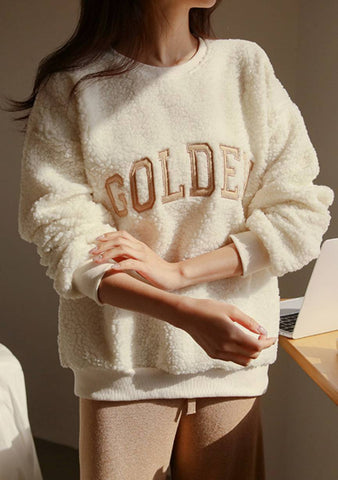 Golden Time Embroidered Sweatshirt