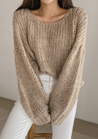 Just My Winter Dream Furry Knit Sweater