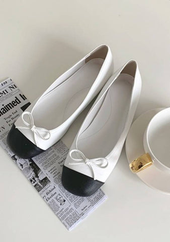 No Regret Color Block Flat Shoes