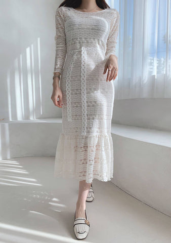 Spark Passion Lace Long Dress