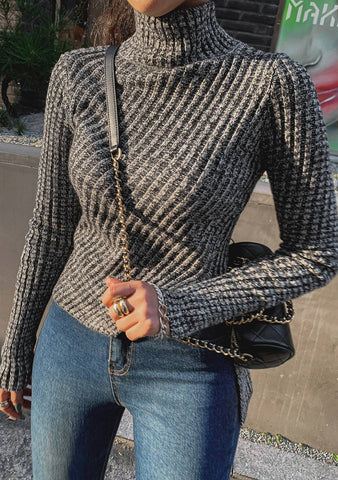 Watching Fall Movies Ribbed Knit Top