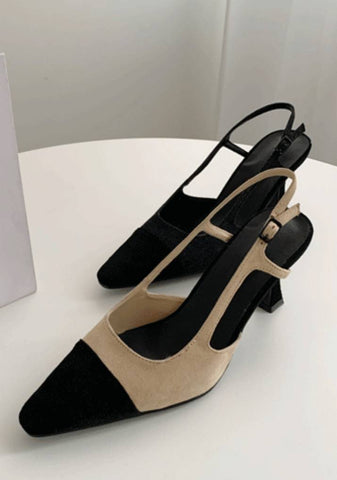 The Present Color Block Heels