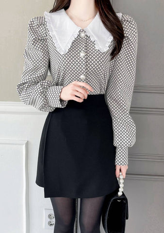 I Say Why Not Collar Blouse