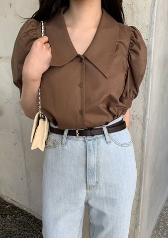 Heart Overflowing With Love Puff Blouse