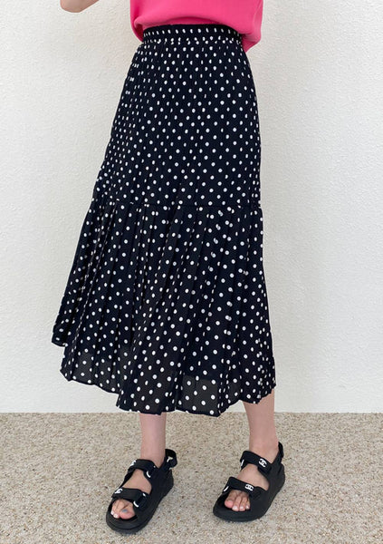 Hi Hello Hola Dots Long Skirt