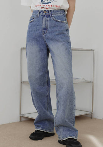 Some Wide Denim Jeans [Blue]