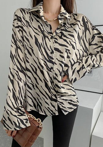 Try To Understand My Wide Side Zebra Blouse