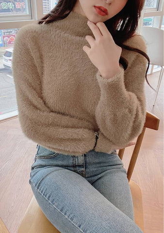 Sweet Waffles Furry Knit Top