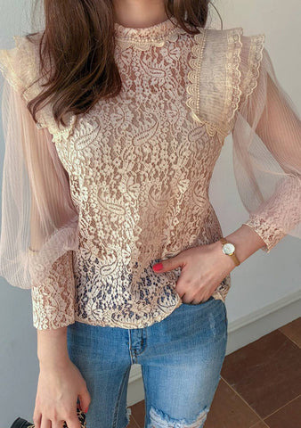 If I Could Do It All Again Lace Blouse