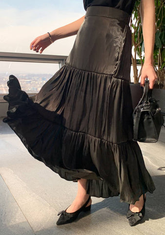 Black Angel Pleated Skirt