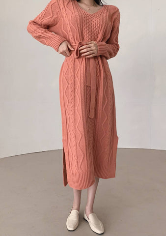Welcome Each New Day Knit Long Dress