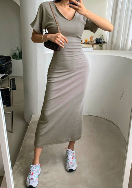 Happy With A Twist Long Dress