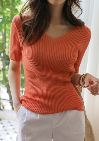 Helium Ribbed Knit Top