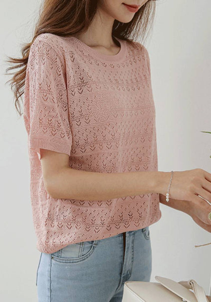 Potential Is Endless Broderie Linen Knit Top