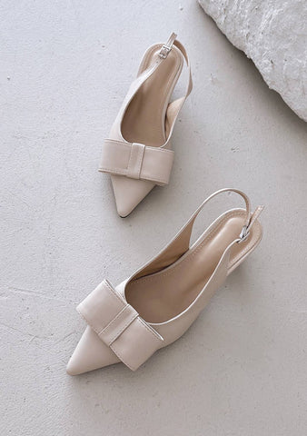 Eternal Sunshine Ribbon Pointed Shoes