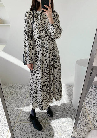 How Are You Doing Printed Dress