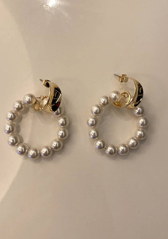 Ring Of Pearls Earrings