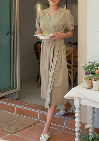 On The Inside Linen Dress