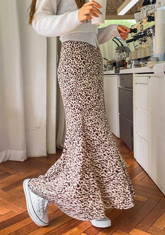 Since January Leo Print Long Skirt