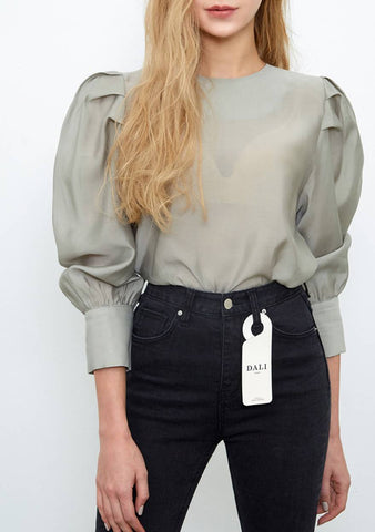 Tencel Volume Puff Blouse