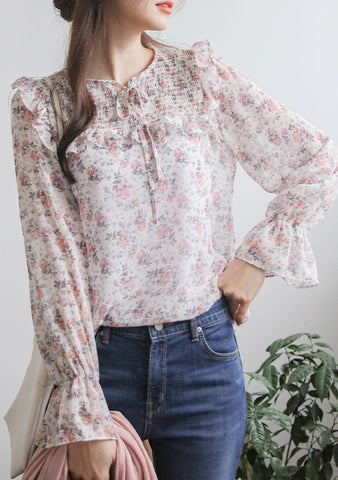 Flowers You Are Celebrated Flower Blouse
