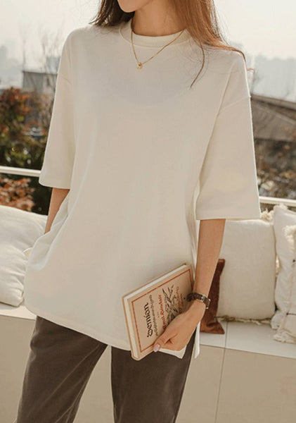 What Do You Think Slit Long T-Shirt