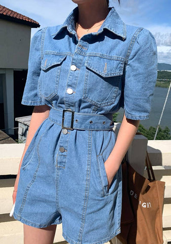 Your True Power Denim Jumpsuit