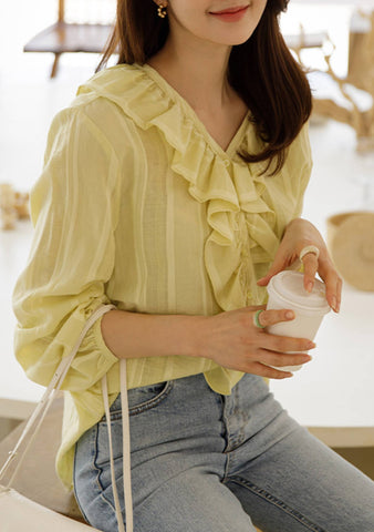 Be The Wave Ruffle Blouse