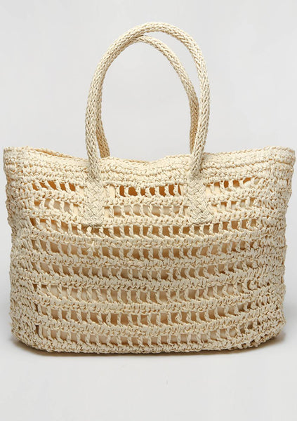 Summer By The Beach Shopper Knit Bag