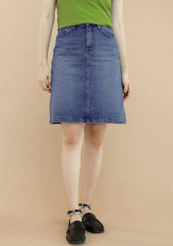 Hoy Denim Skirt [Light Blue]