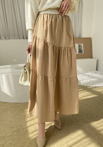Staying Positive Layered Long Skirt