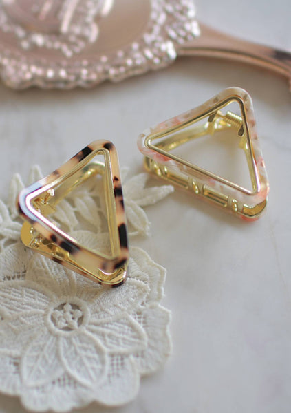 Words For Thought Triangle Hair Clip
