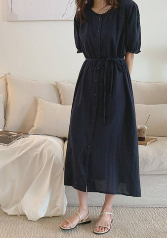Nowhere To Be Tie Front Dress