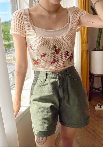 Something Unusual Crochet Crop Top