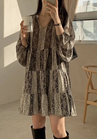 Finding Magic In Night Printed Dress