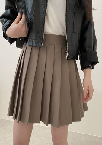 When You Cant Sleep At Night Pleats Skirt