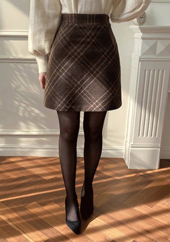 More Than I Know Pattern Mini Skirt