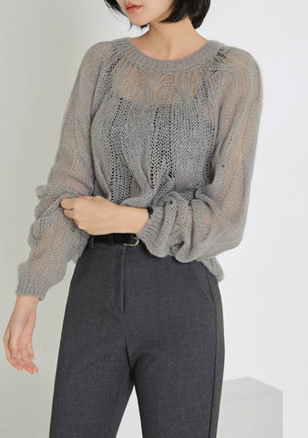 Mohair Twist Knit Top