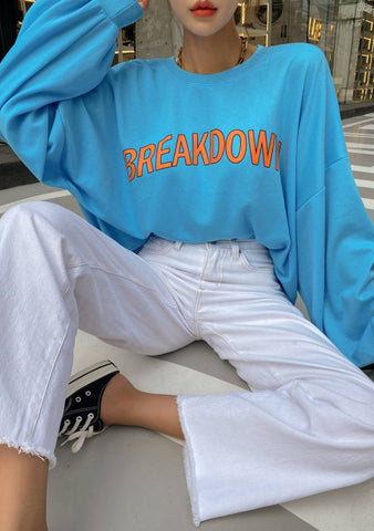 Breakdown Printed Top