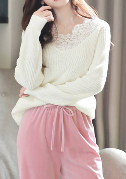 Think About It Lace Knit Top