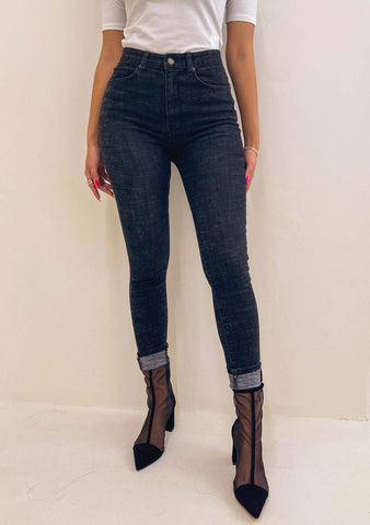 Tell Me What Is It High-Waist Denim Pants